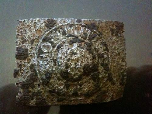 Wehrmacht Buckle found in Italy