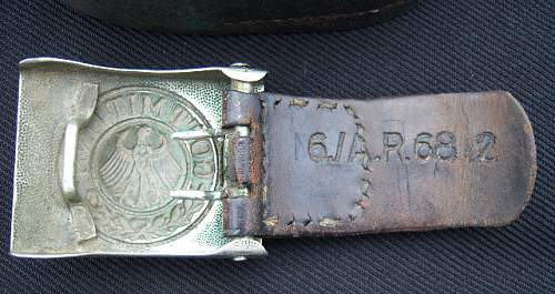 Unit marked Reichsheer belt and buckle