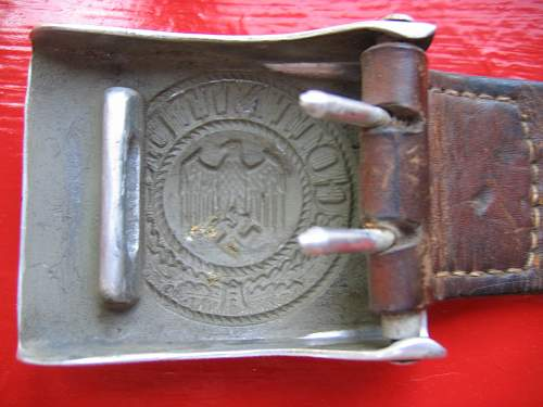 Heer Buckle & Belt set - 1937 dated E. Schneider