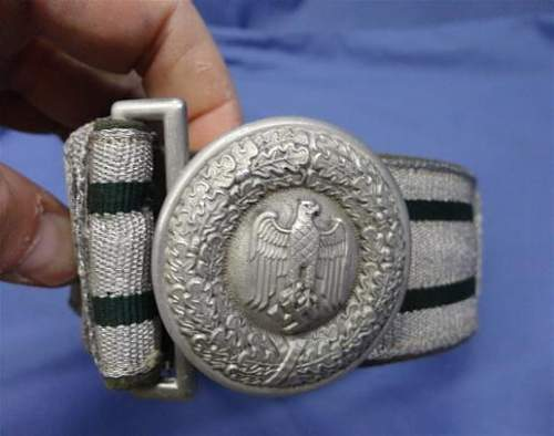 Thoughts on this Heer Officers Belt and Buckle