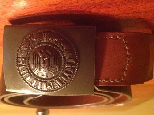 Could someone tell me what they know about this german belt buckle and belt?