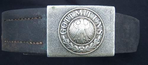 1-Piece Aluminum Reichswehr Buckle, Field Painted