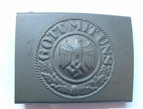 Wehrmacht Heer buckle Makers
