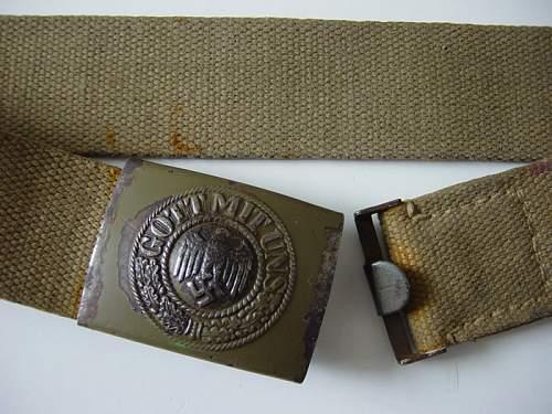 DAK Belt and buckle