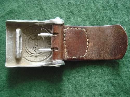 Unusual Aluminium Heer Buckle