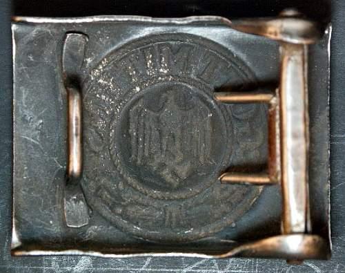 Army buckle W/ H.A.  Marking