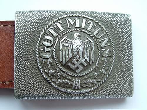 WH Aluminium Belt Buckle with tab ID