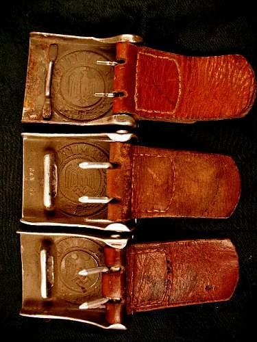 3 Army Buckles W/tabs