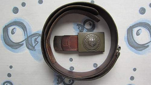Heer belt and buckle H. Aurich 1941
