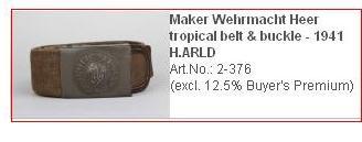 Tropical Heer buckle, maker??