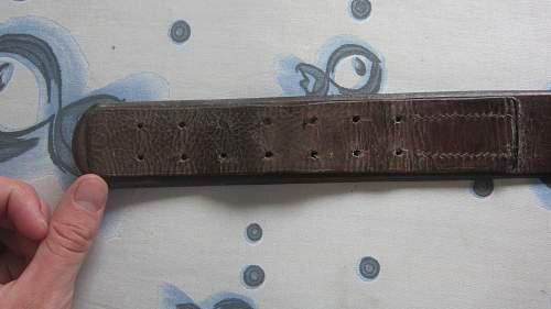 New Heer belt and buckle