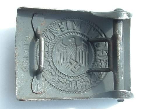 Very nice CTD buckle dated 1943