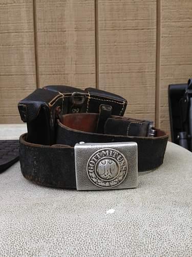 Heer EM Combat Belt *Named?*Drawn on*