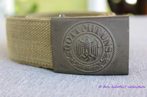 Tropical NCO Belt and Buckle No 2