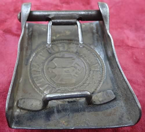 Unmarked Heer Steel Buckle