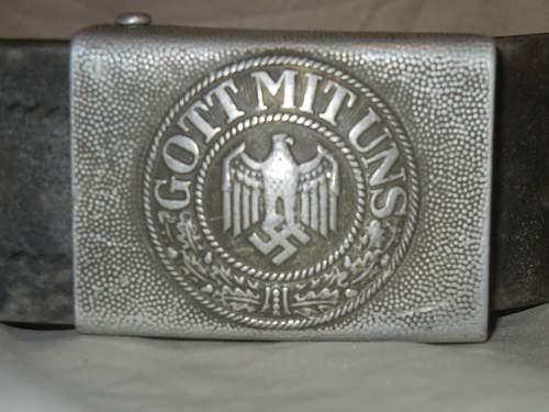 Please Help Identify two WWI or WWII army belts!