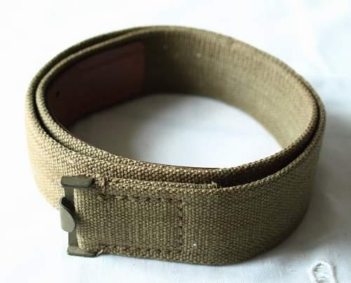 Mint Heer buckle by Motz with web belt