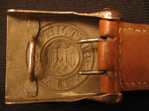 Heer buckle with double stamp