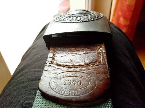 German belt buckle ww2