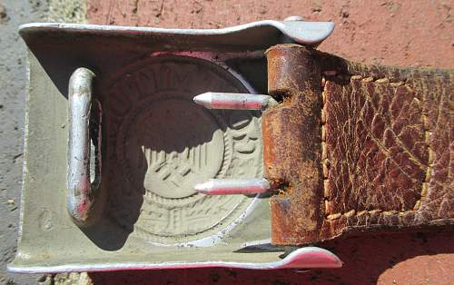 Buckle and Belt purchase - H Arld 1939 tab