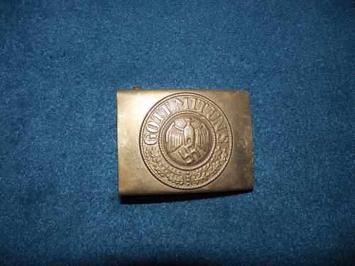 German Brass belt buckle. kriegsmarine?