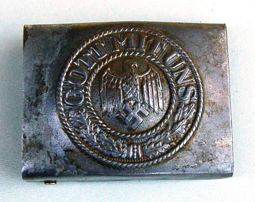 Steel Heer buckle original?!