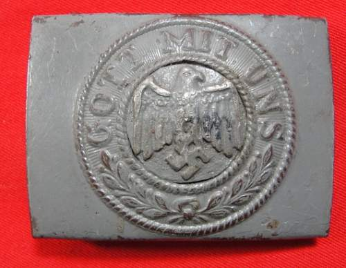 German War Booty and 'transitional' Heer buckles