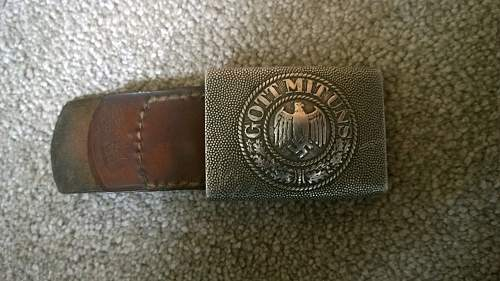 German Army Belt Buckle and Tab: Fake/Real