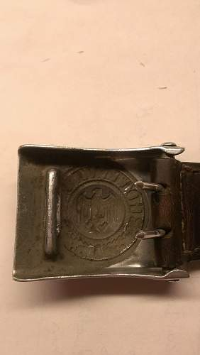 Pebbled Tab 1938 Heer Buckle, Post war belt?