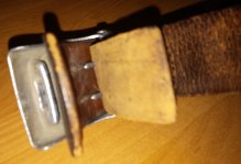 Unmarked (well worn) Heer buckle and belt
