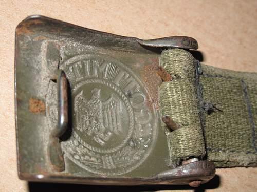 Afrika Korps Belt, buckle & Holster - first ever TR purhase so be gentle!