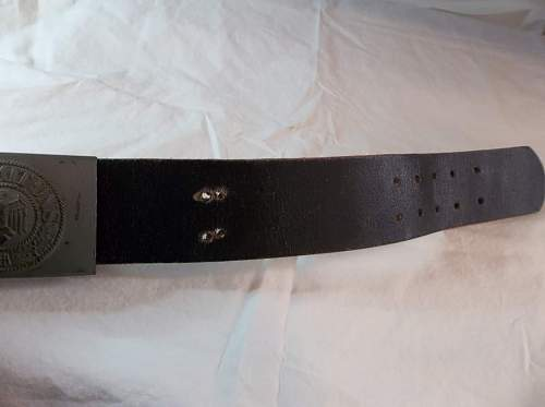 Late war J.F.S. buckle and belt.