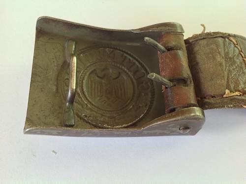 Unmarked steel  heer buckle
