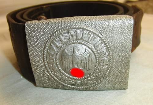 2 Heer belt & belt buckles
