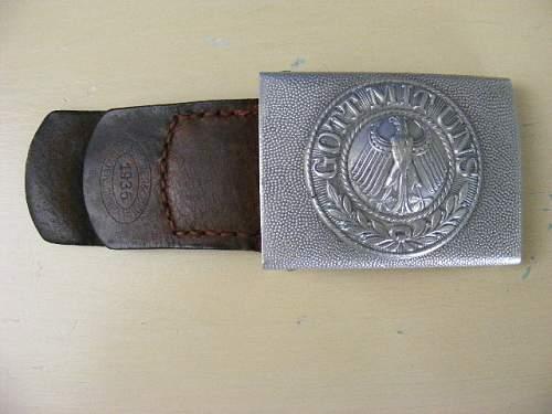 Reichswehr buckle in aluminium