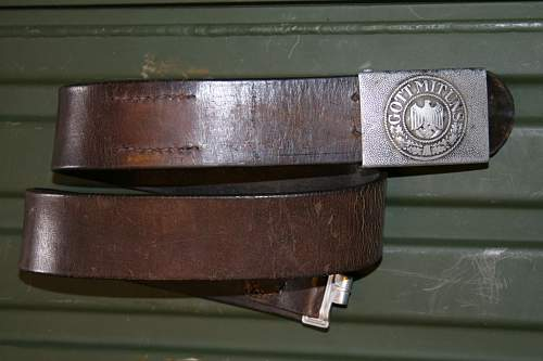 WH belt and buckle