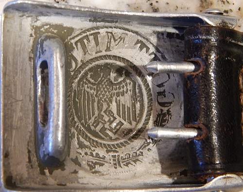 Aluminum Heer Belt Buckle - Authentic?