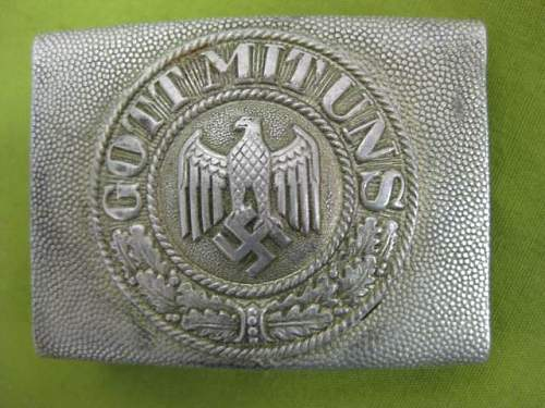 Heer Aluminum Belt Buckle Unmarked and Waffen SS Buckle marked REDO: Authentic buckles?