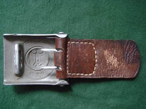 Three rare 1937 alu Heer buckles
