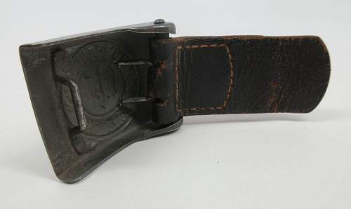 1941 dated Heer EM/NCO belt buckle w/ leather tab