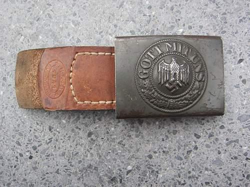 Heer belt and buckle 1941