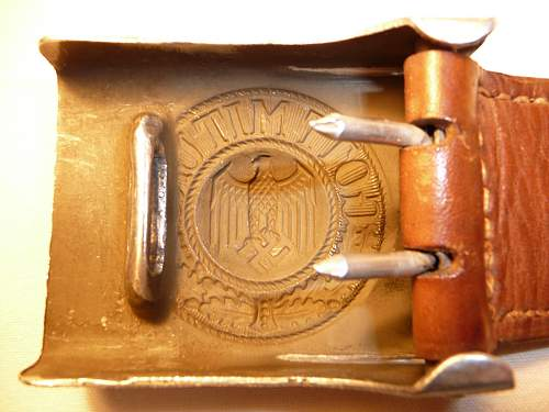buckle Gebruder Albert 1936 and belt regimented nominative
