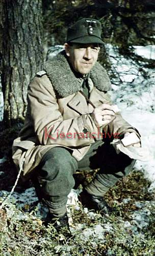 Click image for larger version.  Name:A wartime Agfa color slide of a Gebirgsjäger Hauptmann eating some bread ration.jpg Views:84 Size:92.1 KB ID:1004754