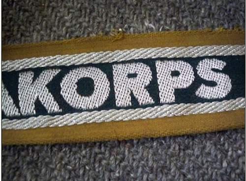 Afrikakorps Cuff-Title is Good?
