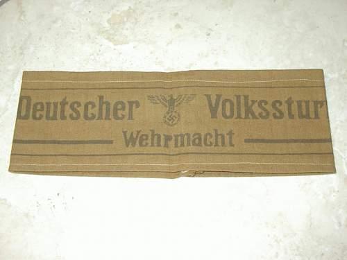 Volkssturm armband variant