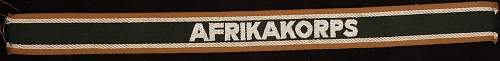 AFRIKA KORPS Cuff title