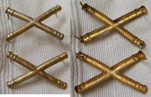 Fieldmarshals shoulder strap batons