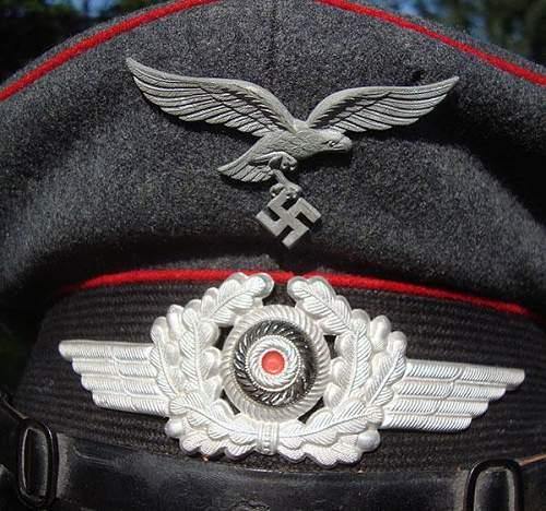 Luftwaffe Artillery Visor Cap