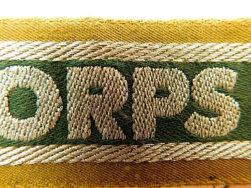 Click image for larger version.  Name:Afrikakorps cuff.obv detail.1.jpg Views:8 Size:223.1 KB ID:1071354