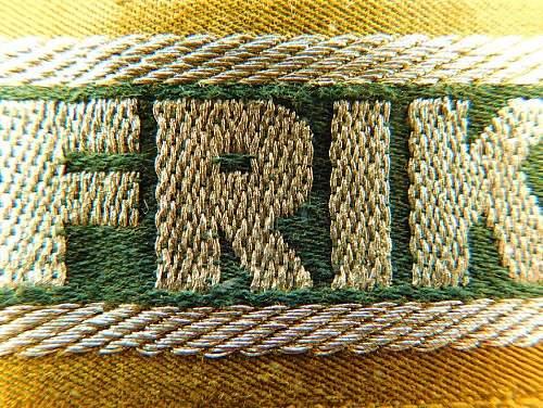 Click image for larger version.  Name:Afrikakorps cuff.obv detail.2.jpg Views:6 Size:223.7 KB ID:1071355